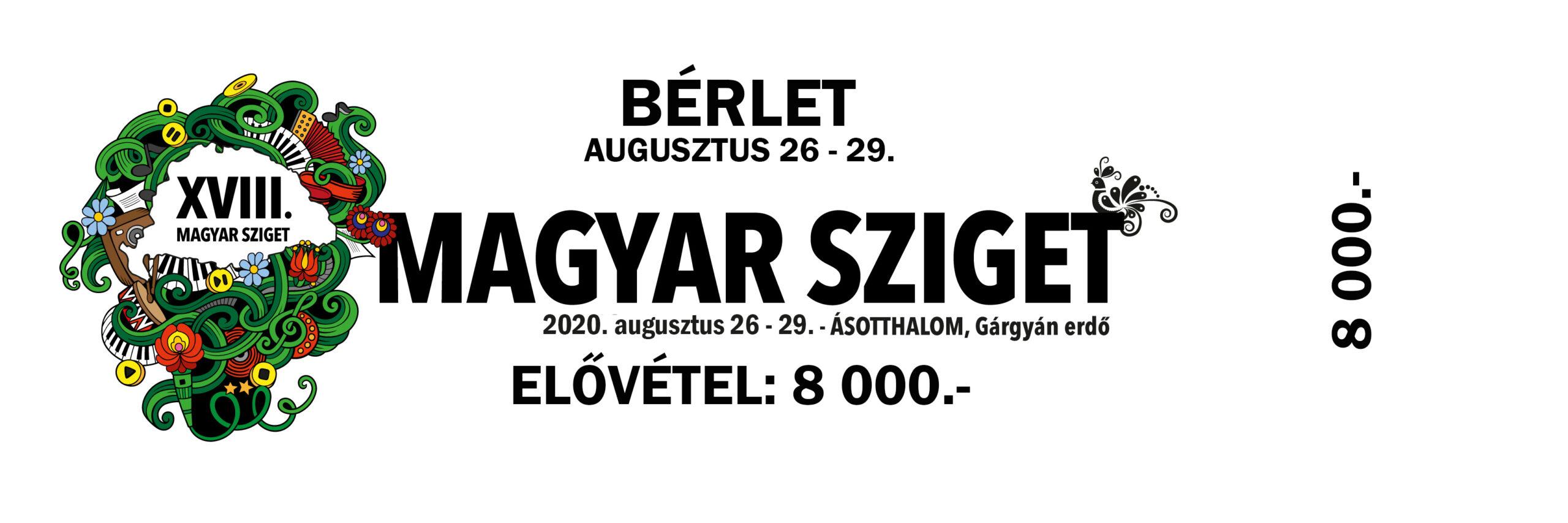 Bérlet 2020 augusztus 26. - 29.